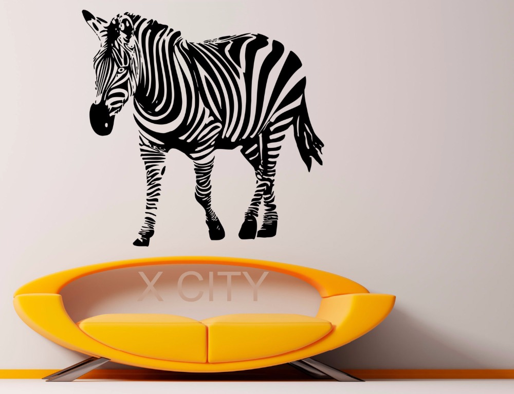 Zebra African Wild Animal WALL ART STICKER VINYL DECAL LIVING ROOM STENCIL MURAL HOME OFFICE DORM DECOR