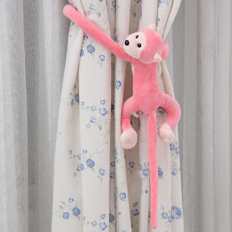 2018 mignon Animal Long bras queue mignon singe en peluche jouet poupée rideau décoration 60cm mascotte JUL26_17