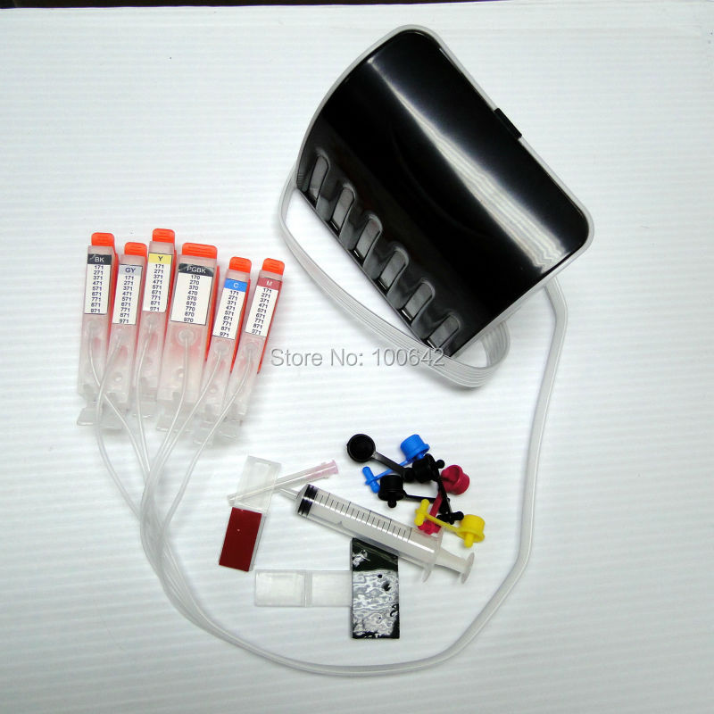 ФОТО 6 color CISS ink cartridge BCI-370 BCI-371 BCI-370XL BCI-371XL with chip for Canon PIXMA MG6930 MG7730
