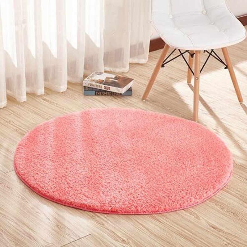 9 farbe Hause Berber Fleece Teppiche Runde Verdicken Weiche Teppiche Für wohnzimmer Kelim Aera Teppiche Kinder Schlafzimmer Yoga Matten fußmatten Boden