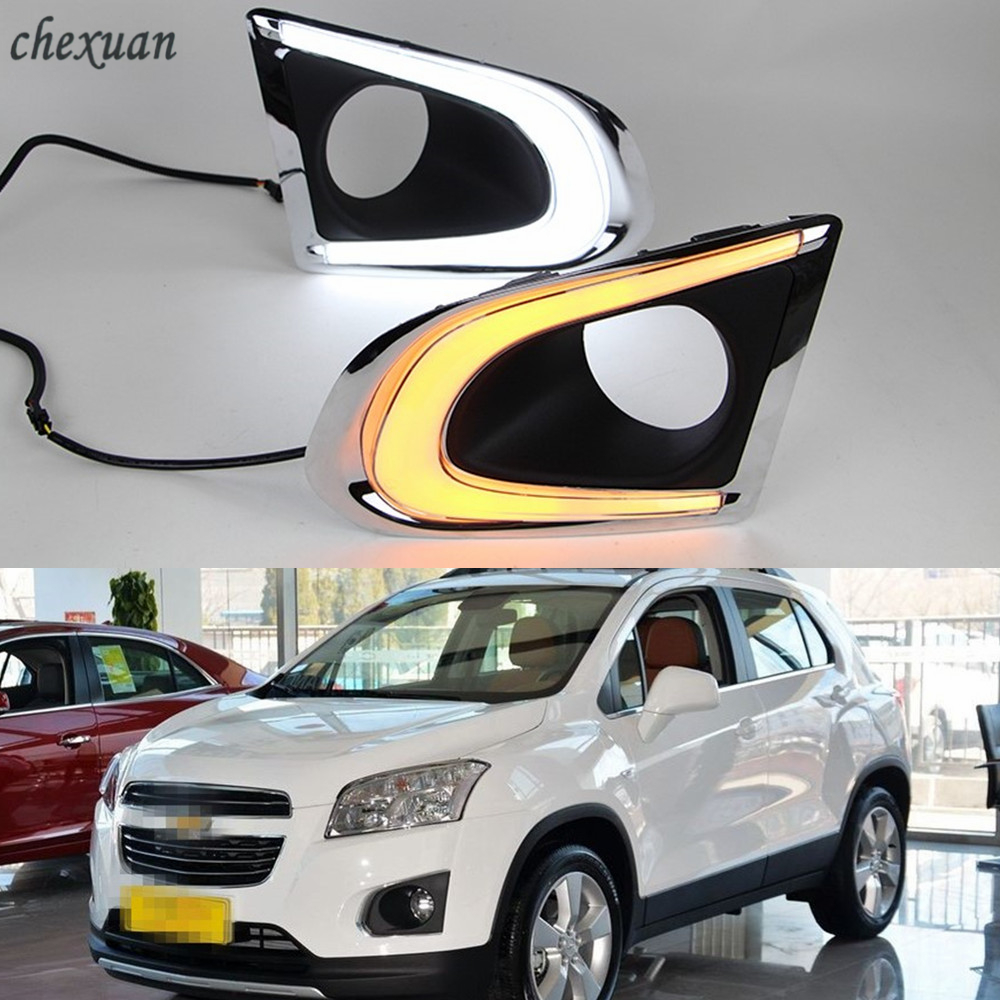 CSCSNL 1 set For Chevrolet TRAX Chevy 2014 2015 LED DRL Daytime Running Lights Daylight With