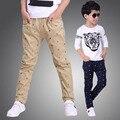 Nueva Moda Casual Niños Jeans para Niños de Alta Calidad de Los Niños Coreanos Pantalones de Los Bebés de los Pantalones, niños Boy Pantalones Vaqueros niños Leggings