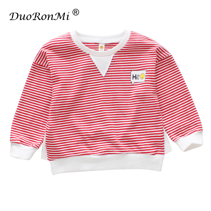 Baby Boys Sweatshirt 2018 New Boy Spring Tops Shirts for Baby Kids Casual Stripe Tee Tops Kids Pullover Tee Children Clothing