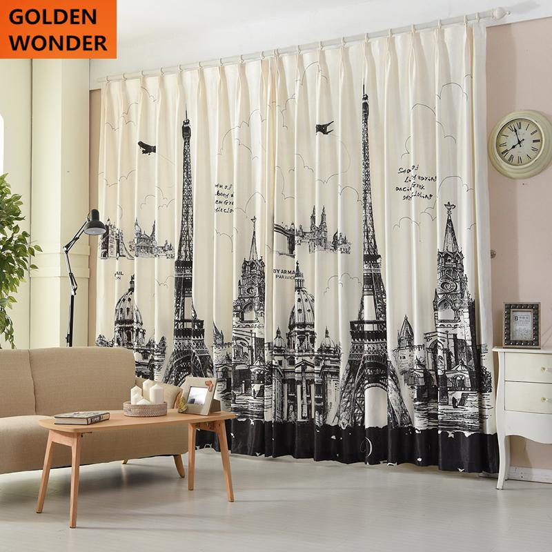 Online Shop Nordic Personality Curtain Digital Printing Velvet ...