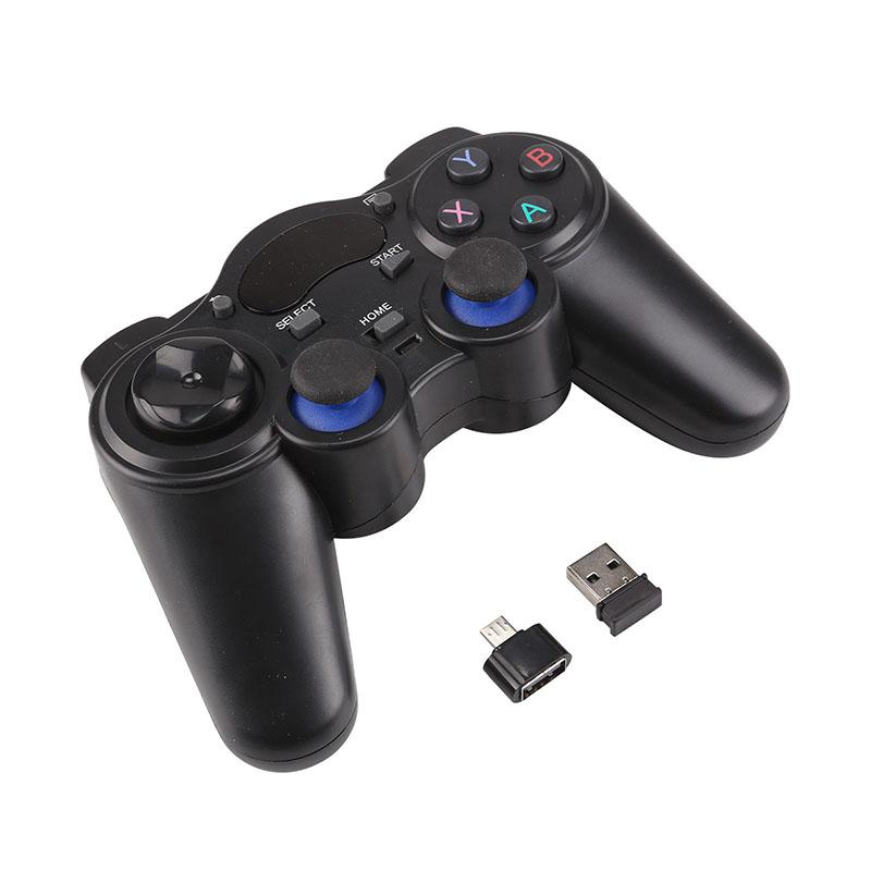 2.4G Wireless Game Controller Joystick Gamepad With Micro USB OTG Converter Adapter For Android TV Box For PC PS3