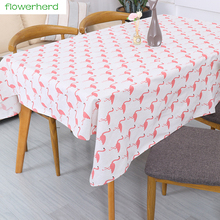 1*1.5m Cotton and linen Flamingos Pattern Fabric for Party Decoration Fabric for Sewing Table Runner Home Decoration
