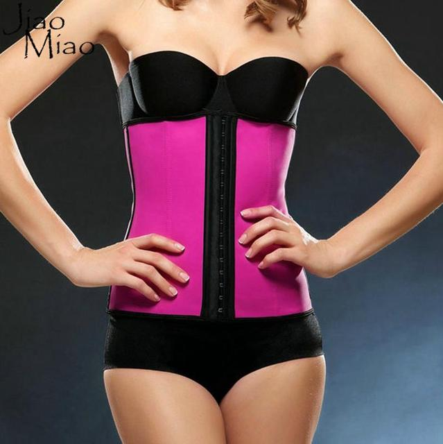 3d95372dd Jiao Miao Women Plus Size Steel Bone Corselet Latex Waist trainer Cincher  Corsets And Bustiers Hot