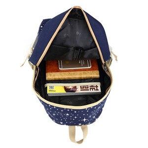 Image 5 - 3 adet/takım kadın sırt çantası okul çantaları yıldız baskı sevimli sırt çantaları ayı ile gençler kızlar için seyahat çantası sırt çantaları Mochila