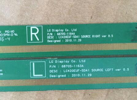 6870S-1163A 6870S-1164A LCD Panel PCB Part A Pair s46240mb3sl4lv0 4 s46240mb3sr4lv0 4 lcd panel pcb parts a pair