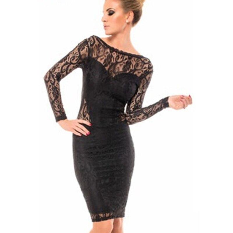 Wholesale Price Lace Bodycon Open Back Chain Midi Dress Black Lace ...