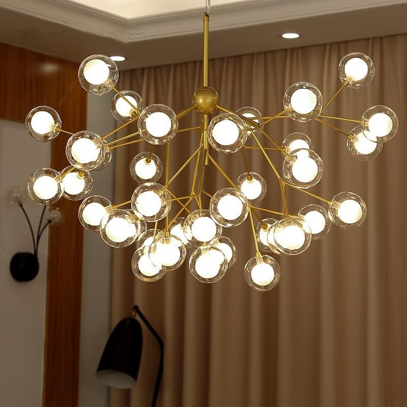 Nordic LED chandelier Glass ball luminaires home lighting bedroom fixtures living room hanging lights restaurant suspended