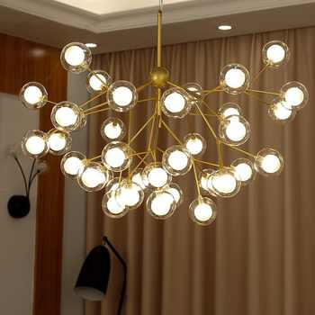 Nordic LED chandelier Glass ball luminaires home lighting bedroom fixtures living room hanging lights restaurant suspended lamps - DISCOUNT ITEM  30% OFF All Category