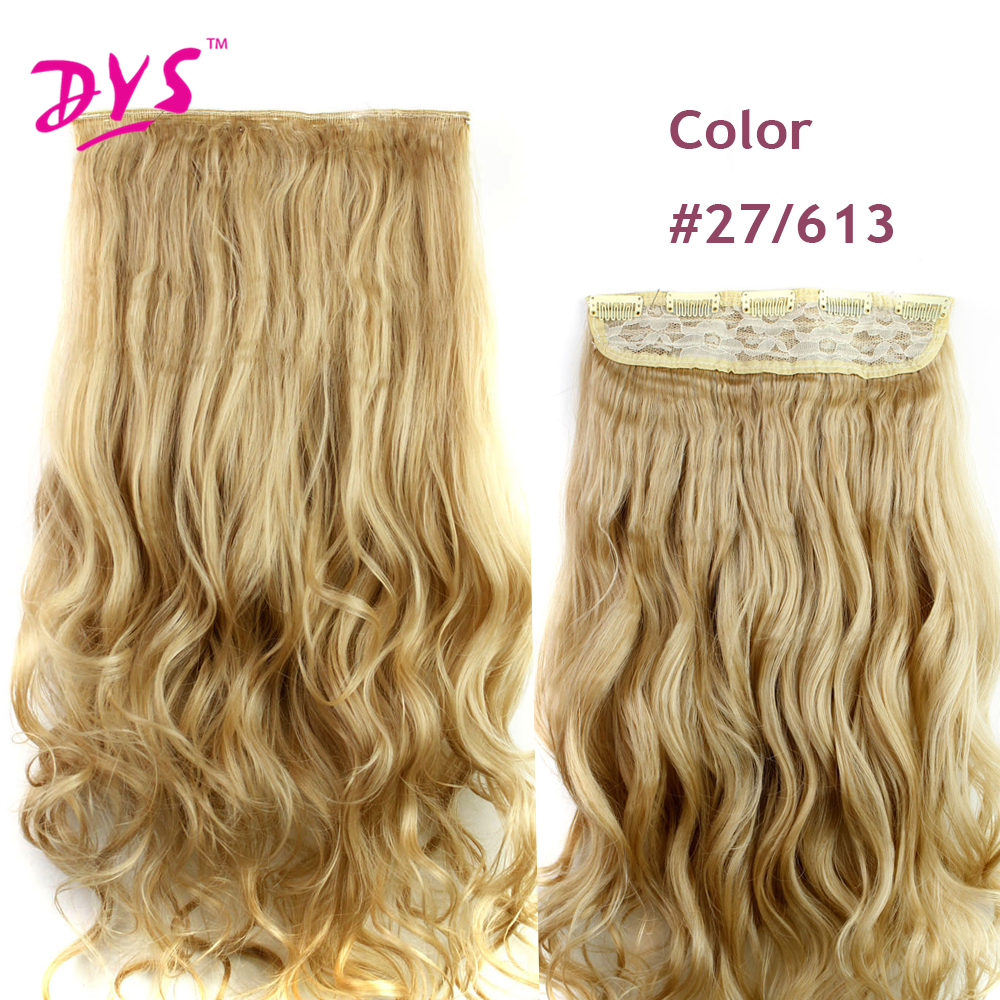 Deyngs 60CM One Piece 5 Clips in Hair Extensions For Women 34 Full Head Long Wavy16 Colors High Temperature Synthetic Fiber (9)