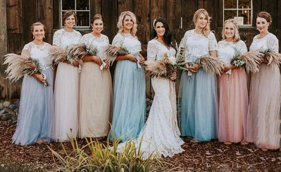 limited style variety styles of 2019 dependable performance US $75.6 30% OFF|Bridesmaids separates Rustic bridesmaids dresses Belle  Lace Separates Stylishbrideaccs Lace Crop Top for Wedding-in Bridesmaid ...