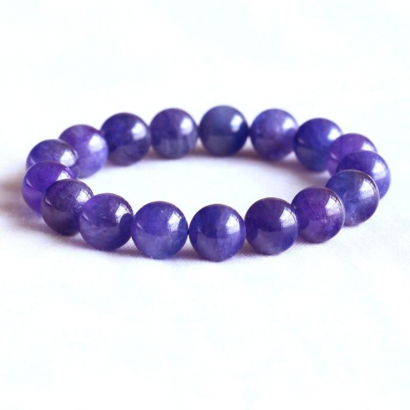 Bracelets & Bangles Genuine Natural Blue Tanzania Tanzanite Woman Beads Man Bracelet Gemstone 9mm Round Beads Stretch Crystal Bracelet Aaaaa Jewelry & Accessories
