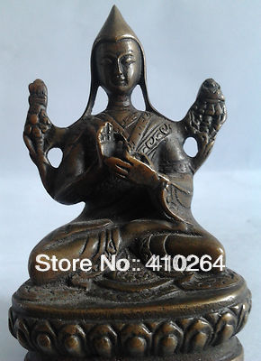 0116P [old Craft ] Fast Shipping 80MM Vintage Bronze STATUE Handmade High Quality Buddhist Goddess (A0314)
