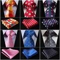 Pontos de Venda quente 3.4 Gravatas de Seda Tecida de ''Men Casamento Laço Bolso Praça Handkerchief Set # M7 Partido Clássico Casamento