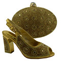 Gold Shoes And Bag To Match Italian African Shoe And Bag For Party In Women Italian Wedding Shoe And Matching Bag Set 89231-8