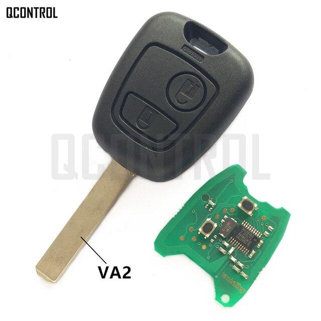 QCONTROL Auto Türschloss Funkschlüssel Anzug für CITROEN C2, C3 Pluriel 2003 2006, 2 Tasten