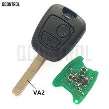Qcontrol車のドアロックリモートキースーツ用シトロエンc2、c3 pluriel 2003 2006、2ボタン