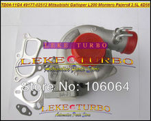 TD04 49177-02512 Water Cooled Turbo Turbocharger For Mitsubishi L200 Montero Pajero II For Hyundai Galloper T 4D56Q EC 4D56 2.5L