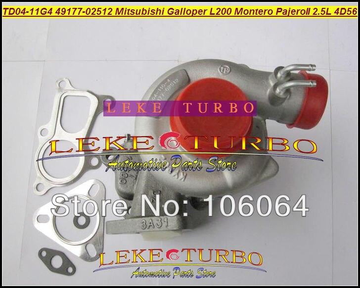 TD04 49177-02512 Water Cooled Turbo Turbocharger For Mitsubishi L200 Montero Pajero II For Hyundai Galloper T 4D56Q EC 4D56 2.5L