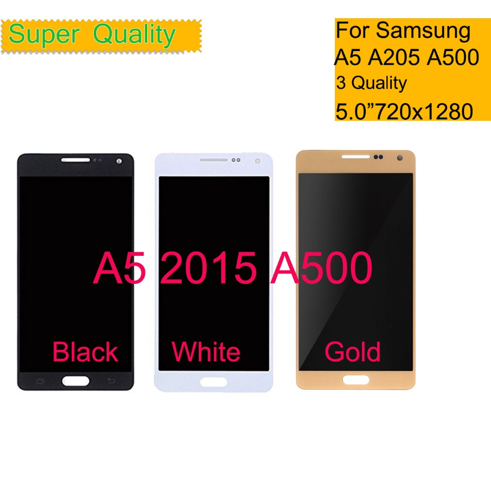 TFT OLED AMOLED For <font><b>Samsung</b></font> Galaxy A5 2015 <font><b>A500</b></font> A500F A500FU A500M Touch Screen Digitizer Glass <font><b>LCD</b></font> Display Panel Assembly image