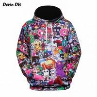 Devin Du Anime Hoodies Men Women 3d Sweatshirts With Hat Hoody Unisex Anime Cartoon Hooded Hoodeis