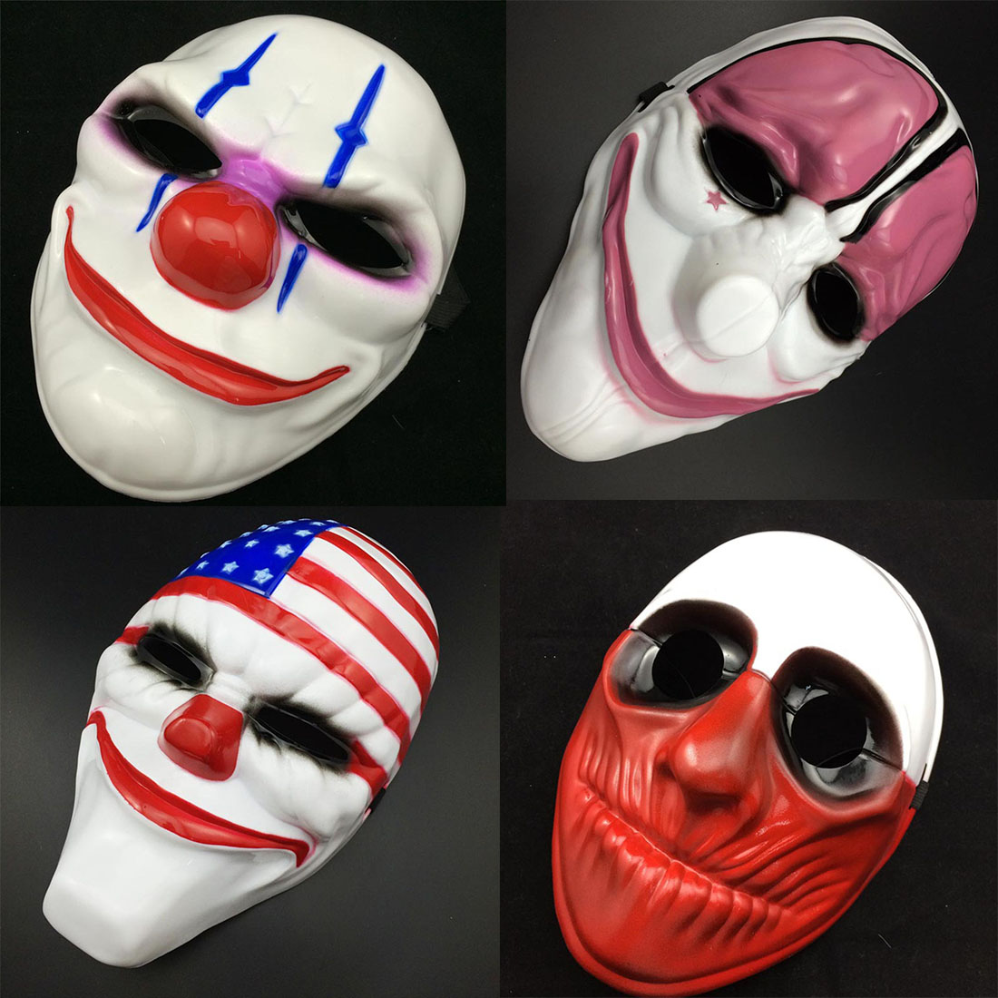 Creative 1PC PVC Scary Clown Mask Halloween Mask For Antifaz Party ...