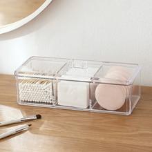 Cosmetics Organizer Container Storage-Box Cotton-Pad-Holder Make-Up Acrylic Portable
