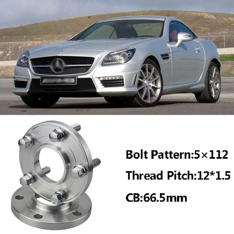 Separadores de Rueda de Aleación de plata 5mm X 2 se ajusta a Mercedes Direct 5X112 66.6 2