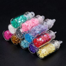 12pcs Sequin Filler Clear Fluffy Polymer Slime Beads Charms Lizun Playdough Modeling Clay DIY Kit Slime Accessories(China)