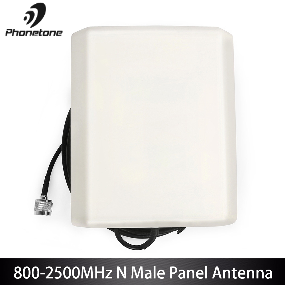 Directional Outdoor Panel Antenna For Cellular Signal Booster 800-2500MHz 9dBi External GSM 3G N Male Connector End & 10m Cable