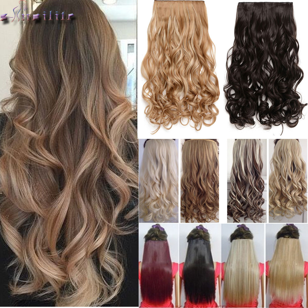 Hot Sale S Noilite 24 Inches 61cm Long 100 Real Thick Clip In Hair