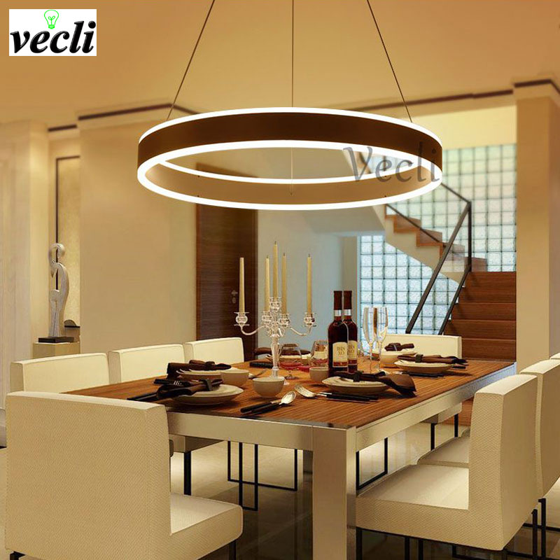 Creative ring highlighting LED acrylic chandelier living room dining room lamps bedroom lamps modern minimalist art Chandelier