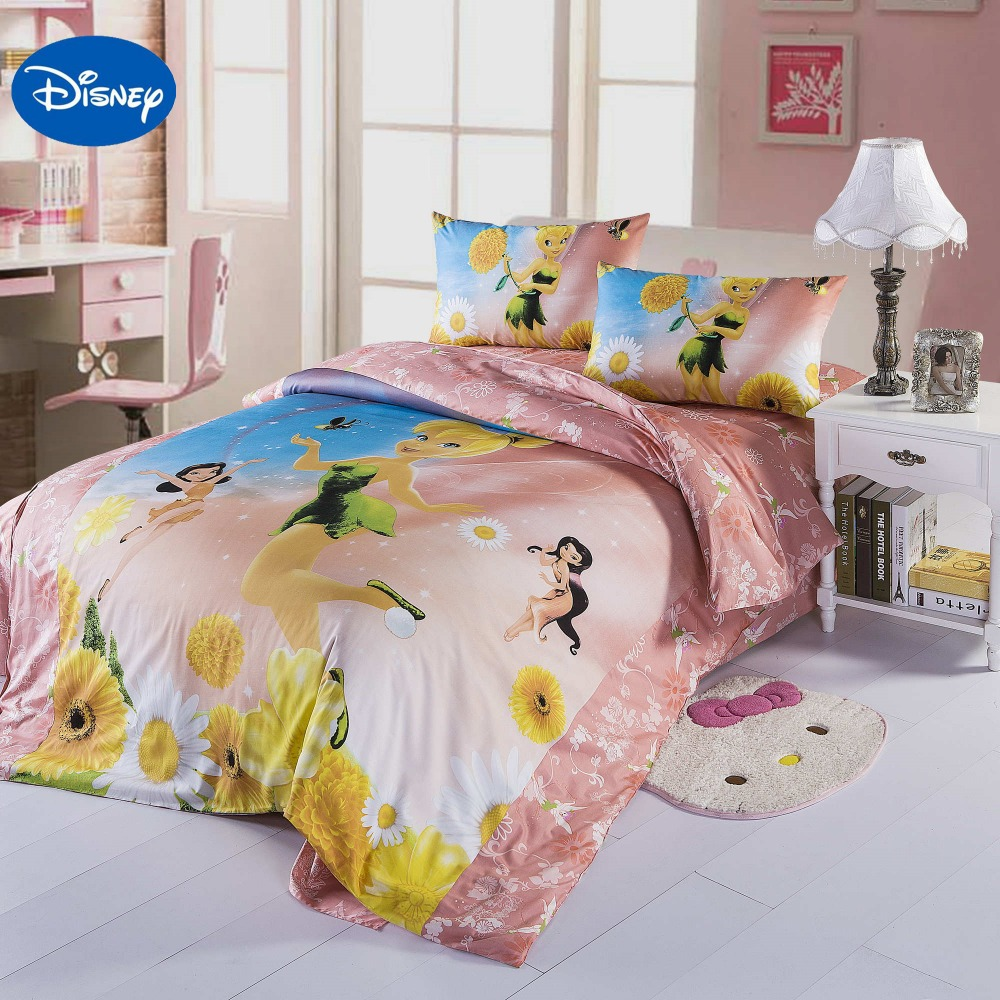 Disney Cartoon Flower Font B Fairy B Font Print Comforter Font B ...