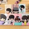 Creative Cute Cartoon Plastic Crystal Card Bus Card Bank Card Taoka Package Protective Sleeve With a Lanyard