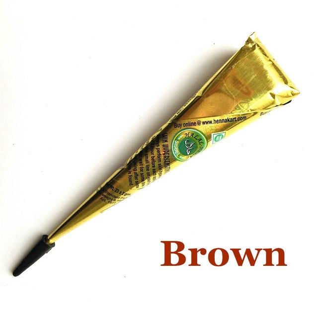 1PC 9 Color Tattoo Inks Waterproof Indian Henna Tattoo Paste Mehndi DIY Drawing Tatoo Black Body Art Paint Cream Stencil TSLM1