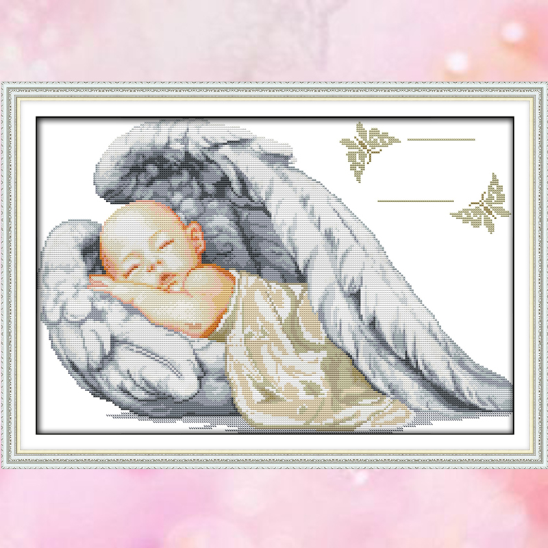 Joy Sunday cross stitch kit angel DMC14CT11CT cotton fabric baby room bedroom livingroom hotel painting factory wholesale