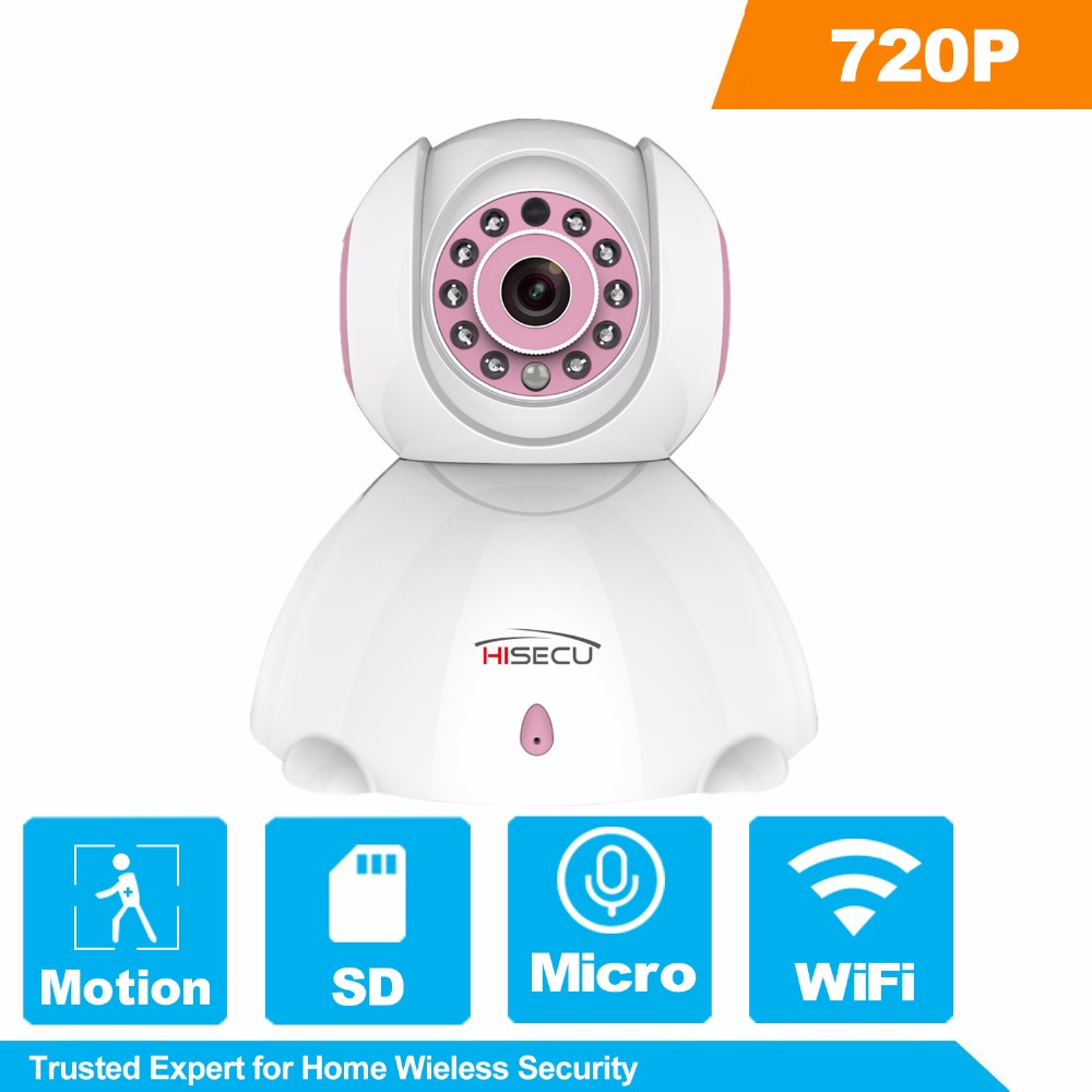 Hisecu 720P Wireless IP Camera Home WiFi Security Camera Night Vision Infrared Two Way Audio Baby Monitor Night Vision new wifi ip camera home security camera wireless 720p night vision infrared two way audio baby camera monitor video webcam