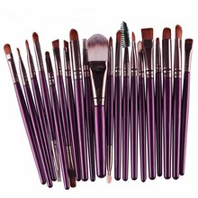 Professional Makeup Brushes Eyeshadow Powder Brush Set Cosmetic Makeup Brushes Tool With Leather Case Fashion недорого