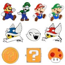 Punk Brooch Coat Button-Pin Comics Custom Badge Lapel-Pins Video-Game Boo Ghost Blue