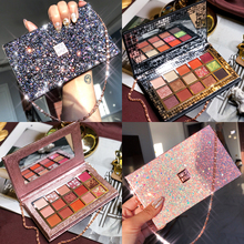 Professional Makeup 15 Colors Eyeshadow Palette Diamond Glitter Pallete Shimmer Matte Foiled