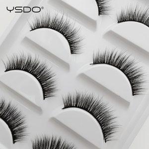 Image 5 - YSDO 5 Pairs 3D Nerz Wimpern Natürliche Haar Falsche Wimpern Lange 100% Dramatische Auge MakeupFake Wimpern Flauschigen Cilios Wimpern G803