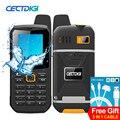 Cectdigi f8 dual sim desbloqueado teléfono celular ptt walkie talkie batería del teléfono 3000 mah banco de la energía impermeable ip67 teléfono resistente árabe