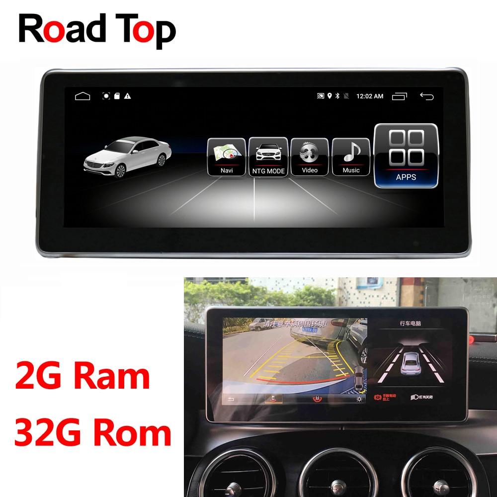 Android 8.1 Octa 8-Core 2 + 32G Rádio Do Carro Unidade de Cabeça de Navegação GPS WiFi Bluetooth Tela para mercedes Benz Classe C W205 2014-2017