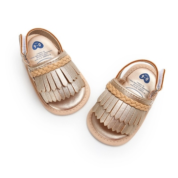 2019 Infant Baby Toddle Baby Girls Shoes PU Leather Tassel Soft Bottom Crib Anti-slip Summer Shoes 1