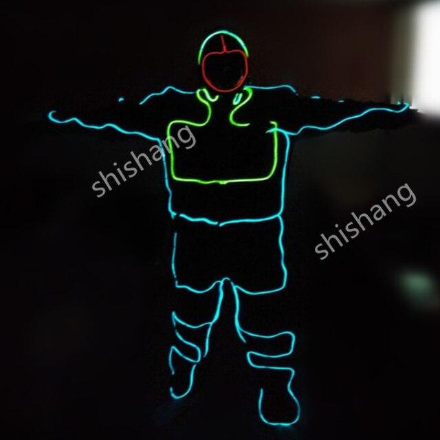 HH814 Männer EL licht anzug/LED robot anzug Kleidung/Leucht Neon EL ...