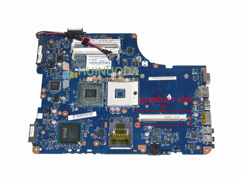 K000010002 Main Board For Toshiba Satellite A500 L500 L505 Laptop Motherboard PM45 DDR2 with Graphics Slot KSWAA LA-4981P nokotion for toshiba satellite a100 a105 motherboard intel 945gm ddr2 without graphics slot sps v000068770 v000069110