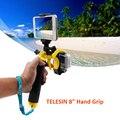 Telesin 8 polegada flutuante gatilho aperto de mão flutuante handle com telefone adaptador holder para gopro hero 5 hero4 3/3 + go pro acessórios